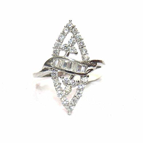 jewelshingar Schmuck rhodiniert American Diamond Ring für Frauen (23012-ring) (23012)