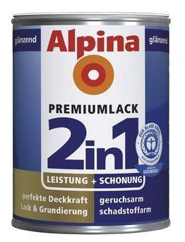 ALPINA 2in1 Buntlack & Grundierung 500 ml Sienarot, Seidenmatt