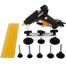 Mookis PDR Paintless Débosselage Réparation, 13PCS Outil de Réparation Suppression Kits, Pistolet à colle, Extracteur Pont et Colle thermofusible