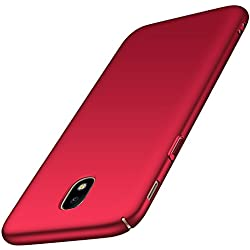 anccer Coque Samsung Galaxy J3 2017/J330F/J3 Pro 2017 [Serie Mat] Resilient Conception Ultra Mince et Absorption des Chocs Coque pour Galaxy J3 2017/J330F/J3 Pro 2017 (Rouge Lisse)