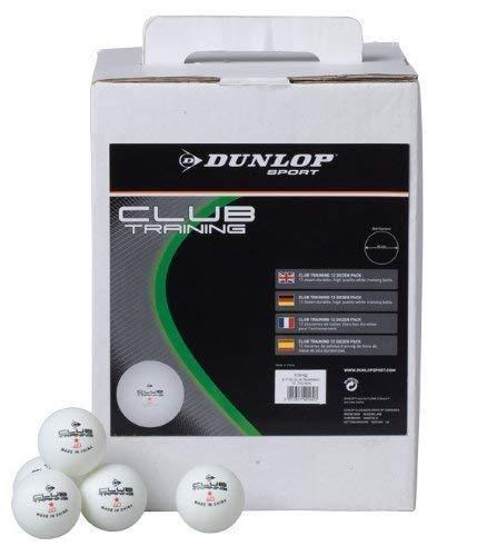 Neu Dunlop Klub Training Tischtennis Ball Ping Pong Play 12 Bälle Pack