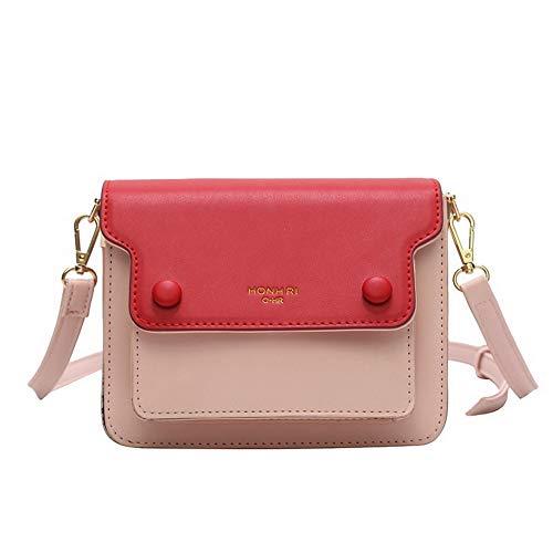 25eed803ee AgooLar Donna Moda Borse Luccichio Mini-Size Borse a  tracolla,GMMBA182391,Rosso