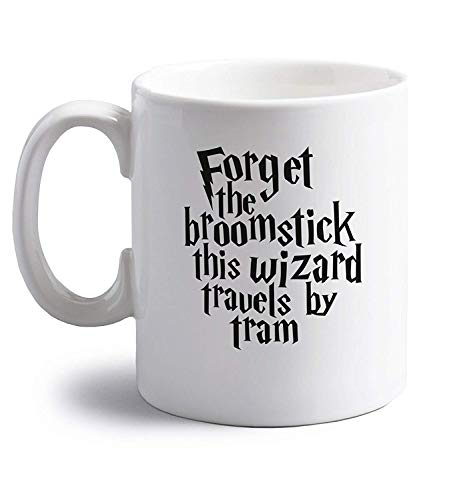 GWrix Forget The Broomstick This Wizard Travels by Tram | 11 oz Ceramic Mug Deluxe Travel Mug