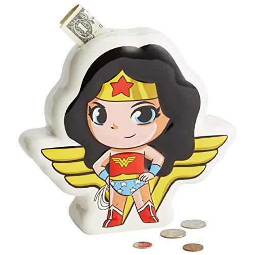 DC Ceramics DC Comics Superfriends Wonder Woman Money Bank, Gummi, Multi Coloured, One Size