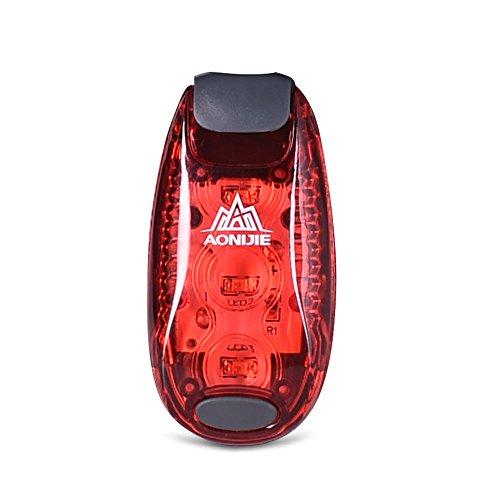 Imagen de aonijie multifuncional 2unidades al aire libre ciclismo running  para bicicleta casco luces luces de advertencia, rojo