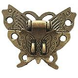 Aisoway Schmetterling Schnalle Haspe Holz Weinkiste mit Verschluss-Schnalle Antique Padlock Hardware
