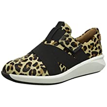 Clarks Women's Un Rio Strap Low-Top Sneakers, Multicolour (Leopard PRT Pony Leopard PRT Pony), 7.5 UK