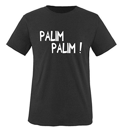 Comedy Shirts PALIM PALIM. Herren T-Shirt T-Shirt Größe L - Schwarz/Weiss