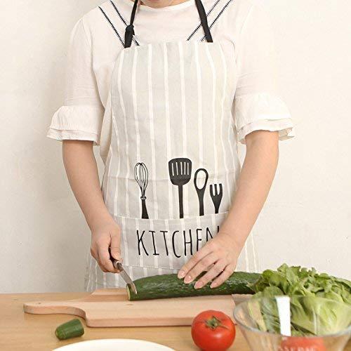 Fashion Bistro BBQ Schürze Baumwolltuch Art Apron Kitchen Home Apron Kochen Coffee Shop Sleeveless Kleidung für Männer und Frauen, Streifen (Farbe : Stripe)
