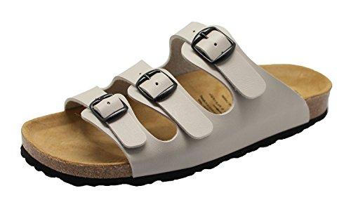 Lico Eli-Pantolette, Flache Hausschuhe für Damen, Farbe: Grau, Größe: 39