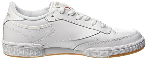 Reebok Club C 85, Deman Niedrig Elfenbein (Whitelight Greygum Whitelight Greygum)