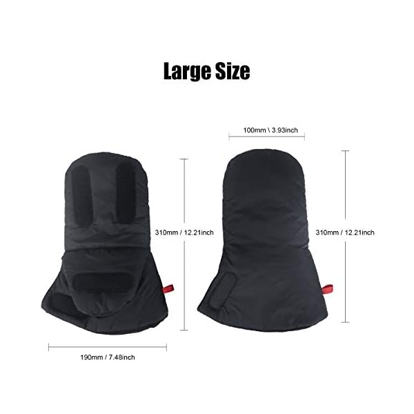 """Stroller Hand Muff, Dreamiracle Winter Warm Waterproof Gloves for Parents, Baby Pram Stroller Accessory, Anti-Freeze, Black Dreamiracle 【Warm Reminder】The Dreamiracle Stroller Hand Muff is SOLD BY """"Dreamiracle EU"""" Originally, Please choose the RIGHT Sellers and boycott the FAKE items from """"other sellers""""! We committeed to provide you the highest quality product and best customer service. If you're unhappy with our product, please feel free to contact us! 【Top Quality and Durable】Made of top-class and soft material, the hand muff is breathable and not easy to be out of shape. Thicker design make it waterproof and windproof, ensuring to keep your hands warm even in the cold winter days while outdoors without being restricted. 【Convenient to Use】Large size(7.5*12.2*1.2 in) makes it wide enough for you to put your hands with your coat into the glove, more convenient than pulling off mittens each time you need free your hands. 6"""