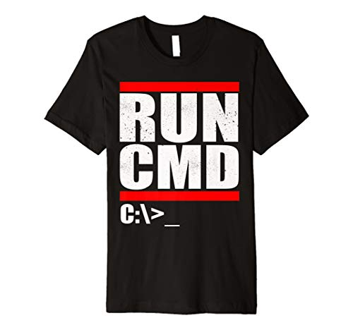 Run CMD T Shirt | Computer Nerd T Shirt -