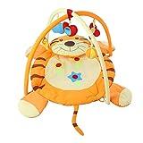 QYLT Manta de Juegos/Gimnasio, Gimnasio de Actividades Diseño de Tigre 3D, Alfombra Bebe Suelo para Gatear, Mantita Actividades Bebe, La Tela Suave Protege a Los Niños