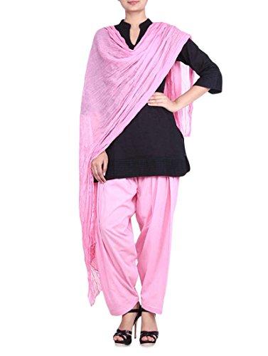 Stylenmart Women's Cotton Patiala Salwar with Dupatta (STMASEPA078602_Pink_Free Size)