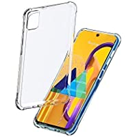 BuyFeb Silicone Back Cover Compatible for Samsung Galaxy M31s(Transparent)