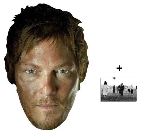 The Walking Dead Daryl Dixon (Norman Reedus) Karte Partei Gesichtsmasken (Maske) - Enthält 6X4 (15X10Cm) ()