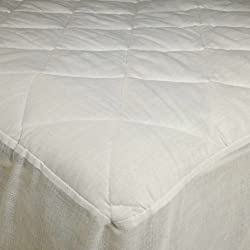 Adorable USA Made Mattress Pad with 16 Drop Skirt, Poly Cotton, Stitched Quilting, King Size