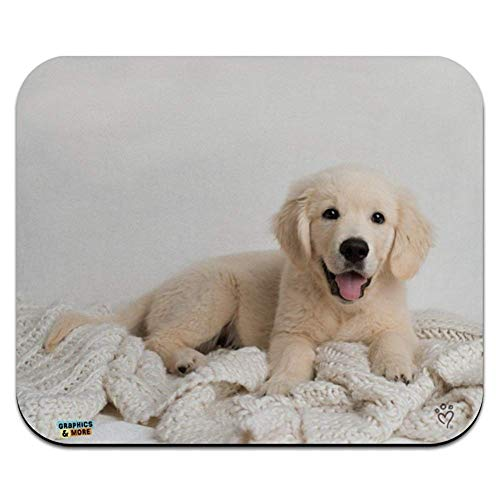 Golden retriever-Hündchen und Decke Low Profile Thin Mouse Pad Mousepad -