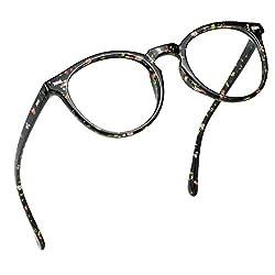 LifeArt Blaue Licht Blockieren Brille, Anti-Augen-Müdigkeit, Computer Lesebrillen, Gaming Brille, TV Brille für Frauen Männer, Anti UV, Anti Glare (Geblümt, 0.25 Vergrößerung)