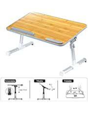 Portronics POR-105 My Buddy Laptop Desk with Leight Weight, Strong & Foldable (Bamboo)