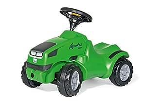 Rolly Toys 132102 rollyMinitrac Deutz-Fahr Agrokid   Rutscher Traktor mit Flüsterreifen, Hupe und Motorhaube zum Öffnen   ab 1,5 Jahren   Farbe grün