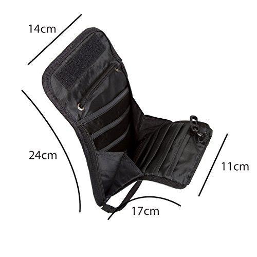 BAGSMART Brustbeutel zum Umhängen mit RFID-Blocker für den Pass/Portmonee/Geldbeutel Schwarz