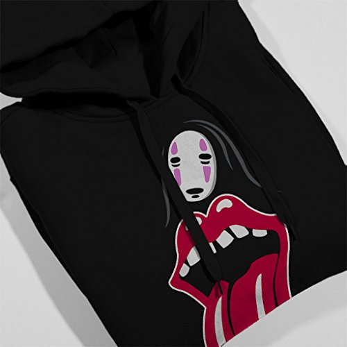 The Rolling Stomach No Face Spirited Away Womens Hooded Sweatshirt Black