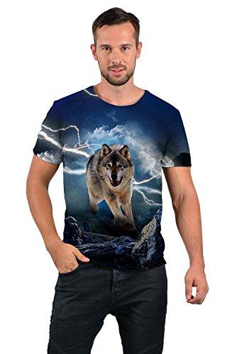 uideazone Mens 3D-Druck-Hipster Hemd mit Kurzen Ärmeln Lässige Graphics Tees Style-5