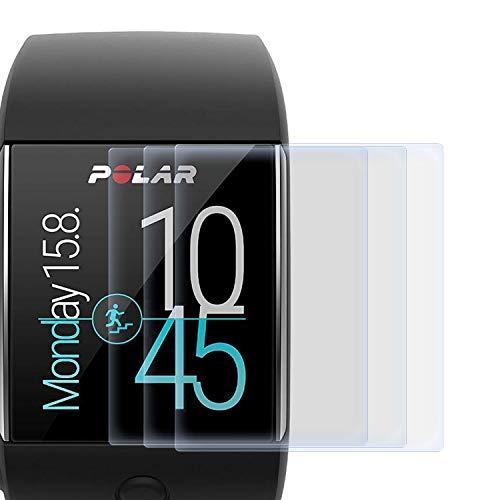 zanasta 3 Stück Schutzfolie kompatibel mit Polar M600 Bildschirmschutzfolie Nano Schutz Folie | Volle Abdeckung, Klar Transparent