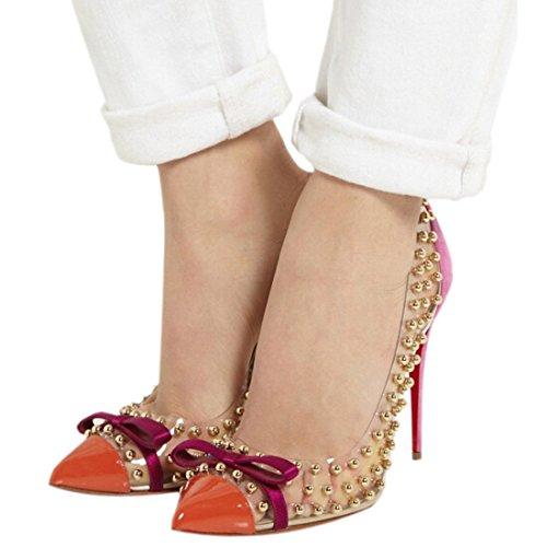 Minetom - Scarpe da donna eleganti, tacchi alti, a punta Orange