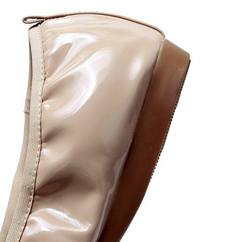Colore Donna Tacco Voguezone009 Nuda Rotonda Albicocca Basse Solido E Cruda Tira Scarpe Di F4Ygqwd