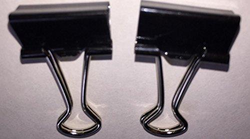 25mm Foldback Metal Black Fold Back Bulldog letter Clips Same Day Dispatch