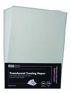 Paper State Soho Lot de 25 feuilles de papier calque 112g/m² Format A4