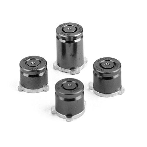 4 Stk. Schwarz Aluminium Metall Kugel Buttons Mod Kit Für Xbox One Controller Eingestellt (Xbox One Controller-tasten Metall)