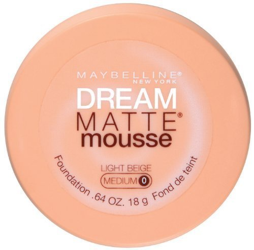 Maybelline New York Dream Matte Mousse Foundation, Light Beige, 0.64 Ounce, Pack of 2 by Maybelline