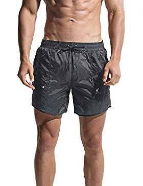 Lantra Besa CM0022 - Pantalones cortos de playa con forro de malla para hombre, para deportes acuáticos en verano...