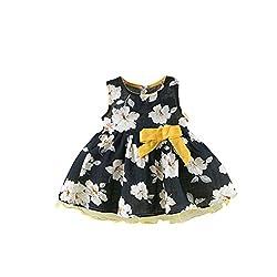 Girls Dresses, Transer® Baby Girls Summer Baby Kids Girls Princess Sleeveless Dress Floral Print Bow Dress 0-24 Months Toddlers Clothes