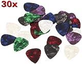 TOOGOO(R) 30 X Acoustic Electric Guitar Picks Plectrums 0.71mm
