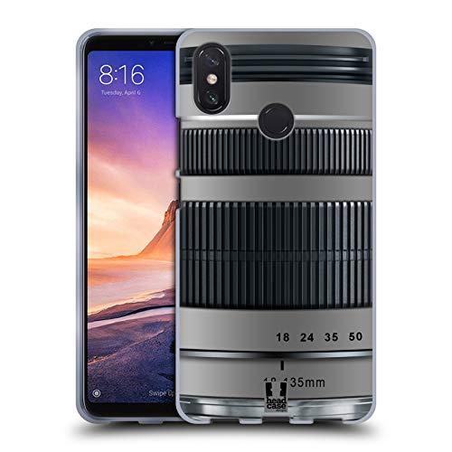 Head Case Designs Brennweite Kameralinse Soft Gel Hülle für Xiaomi Mi Max 3