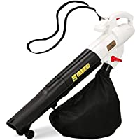 NETTA 3 in 1 Leaf Blower, Garden Vacuum & Mulcher - 45 Litre Collection Bag Included   10:1 Shredding Ratio   Automatic Mulching Compacts Leaves in Bag - 2500W