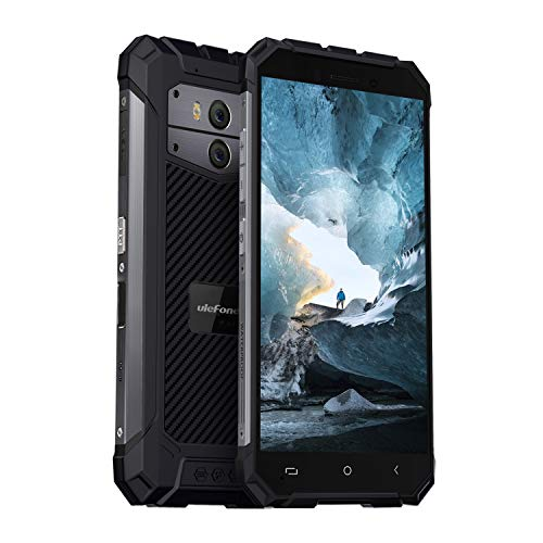 Ulefone Armor X2 2019 Android 8.1 Outdoor Handy (13,97 cm (5,5 Zoll) Touch-Display, 16GB Speicher, 5500mAh Akku, NFC, Fingerabdruck, 13MP + 5MP Kameras) Schwarz Schwarz Handy