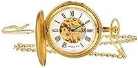 Charles-Hubert-Paris Women's 50mm Brass Case Mechanical White Dial Analog Watch 3789-G