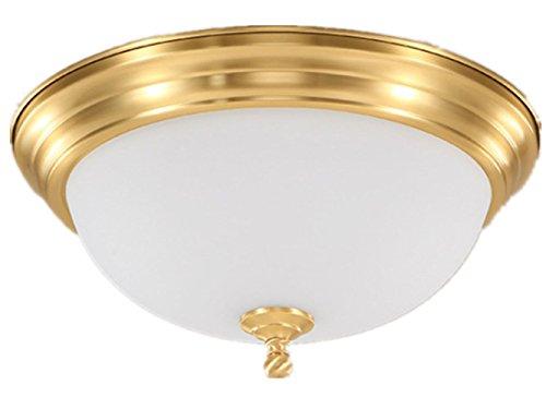 Orientalische Decken-ventilatoren (Messing Decke Lampe für Wohnzimmer Schlafzimmer Küche Durchmesser 39CM 25W Einfache runde Korridor-Leuchten)
