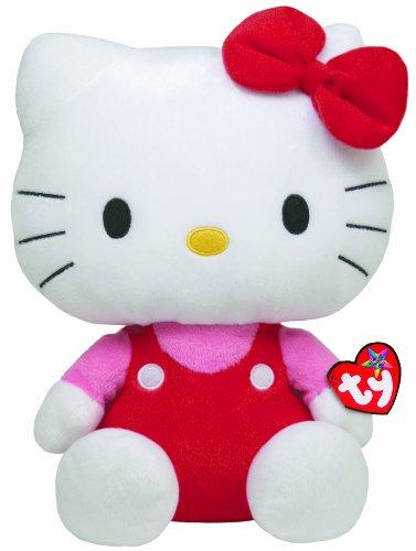 TY 90108 - Hello Kitty Large-Overall rot/pink (Kitty Plüsch Hello Puppe Spielzeug)