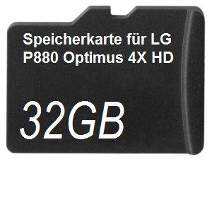32GB Speicherkarte für LG P880 Optimus 4X HD