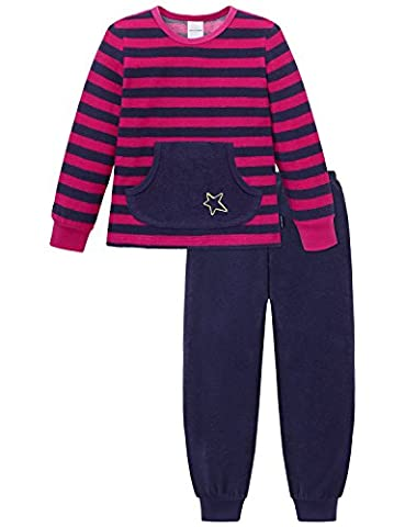 Schiesser Mädchen Zweiteiliger Schlafanzug Md lang, Gr. 92 (Herstellergröße: 092), Rot (pink
