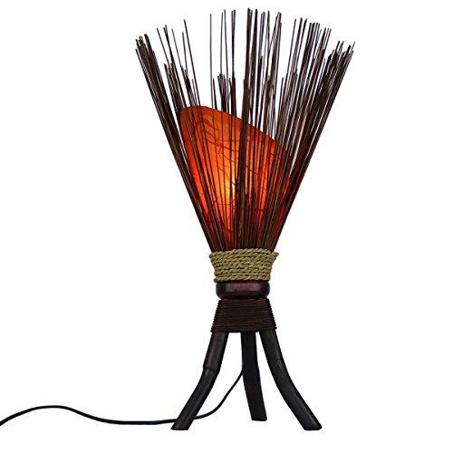 """Stehleuchte """"Jungle"""" 60x35cm • Bali Lampe in orange • außergewöhnliche Standleuchte aus Naturmaterialien • Stimmungslicht aus 100{046f5037401780042dca0a1d31d0845a8851efff888fd1aa758ebb0f1336f3d2} traditioneller Handarbeit • asiatische Dekolampe • Stimmungsleuchte von Simandra"""