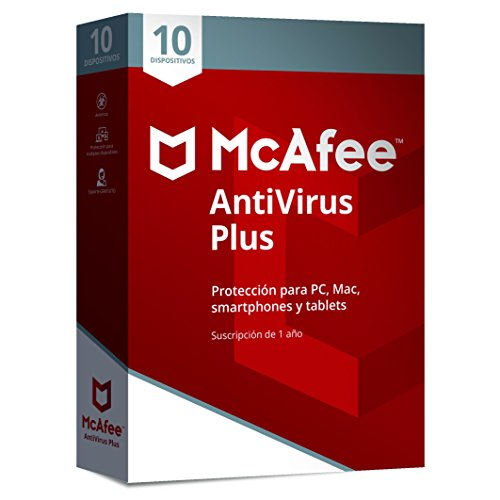 McAfee AntiVirus Plus 10 Dispositivos 2018