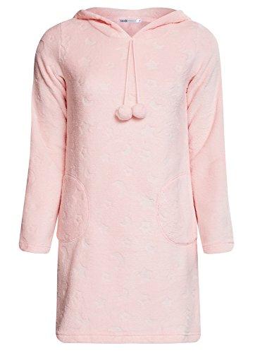 oodji Ultra Femme Robe d'Intérieur à Capuche Rose (4000O)